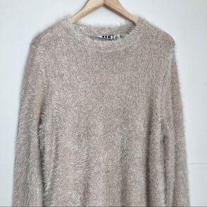 cba119829b Three Dots Sweaters - Three Dots Silk Blend Fuzzy Pullover Sweater Sz XL